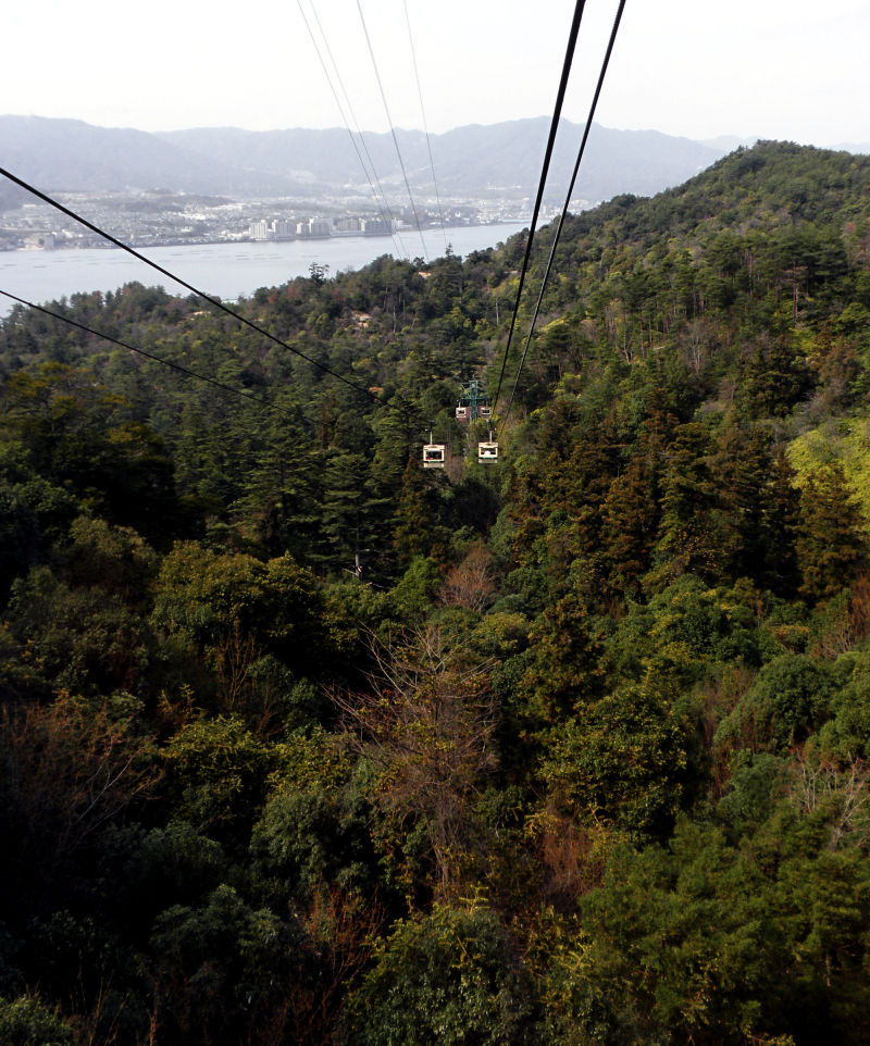 hiroshima japan miyajima mountain cable-car