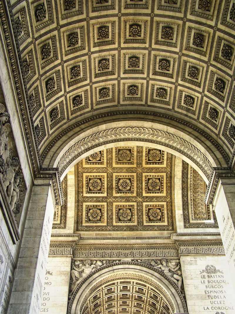 arc-de-triomphe paris france ceiling