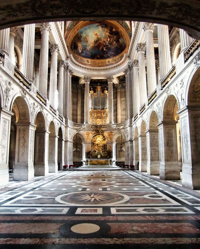versailles france palace chapel
