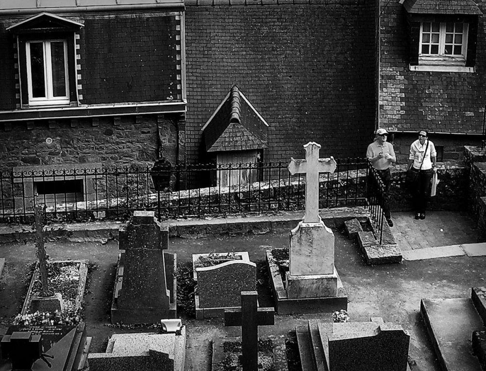 france normandy mont-saint-michel cemetery tourist