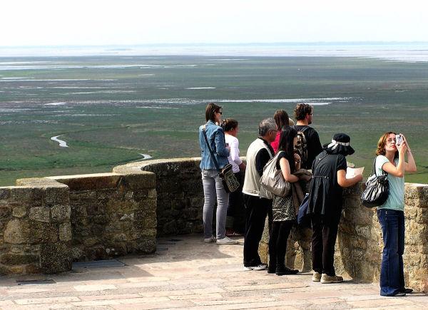 france normandy mont-saint-michel tourist