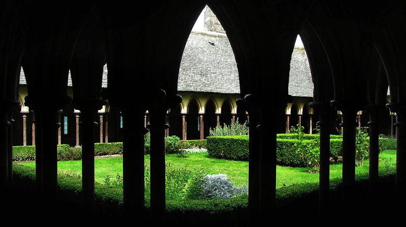 france normandy mont-saint-michel cloister