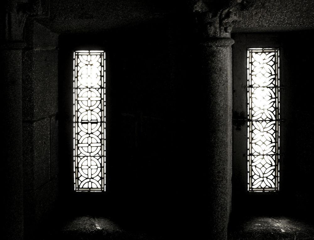 france normandy mont-saint-michel cloister window