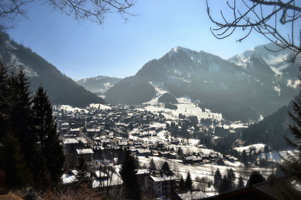france chatel mountain valley snow