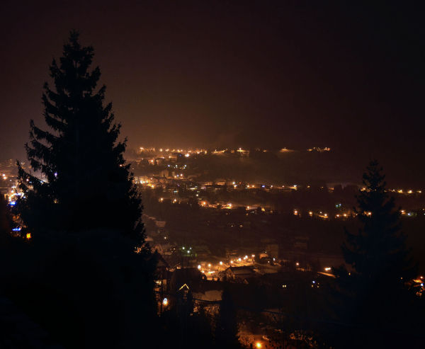 france chatel mountain valley night snow