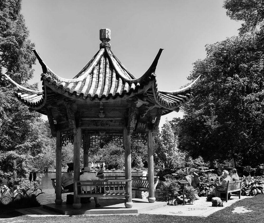 england wisley garden tree pavilion