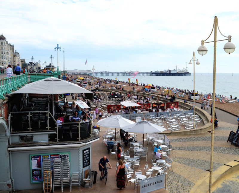 Brighton england sea pier seaside bar cafe tourist