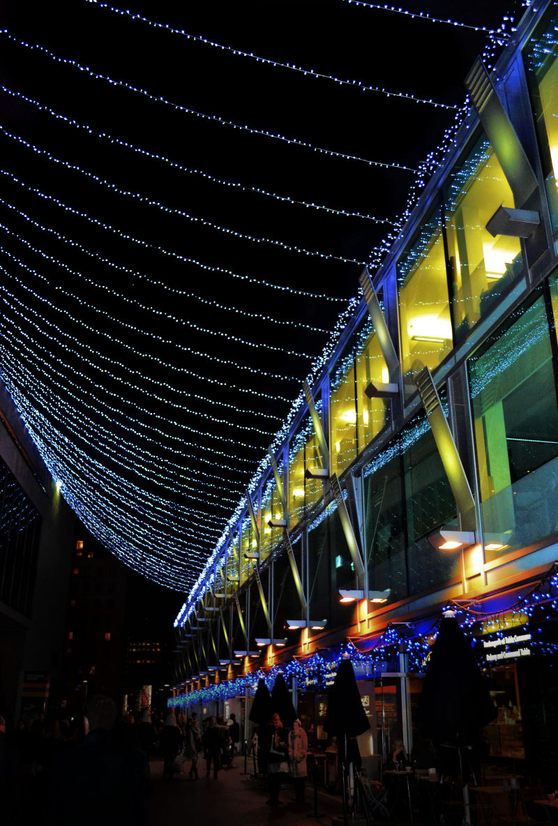 South-Bank london england light christmas