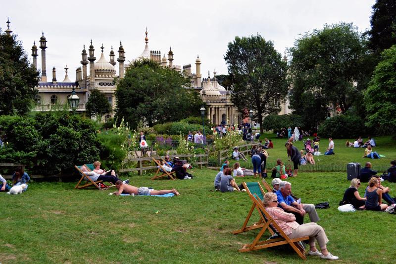 brighton england park pavilion tourist