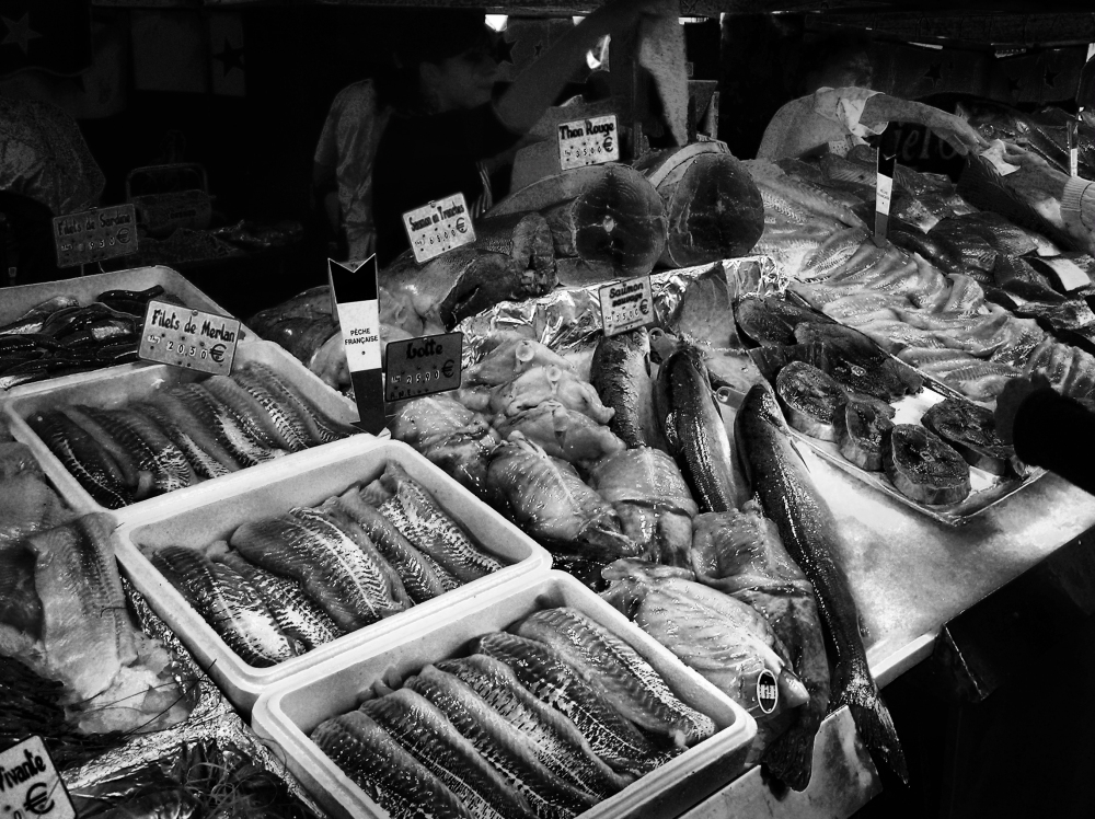 paris france fish market bastille-market