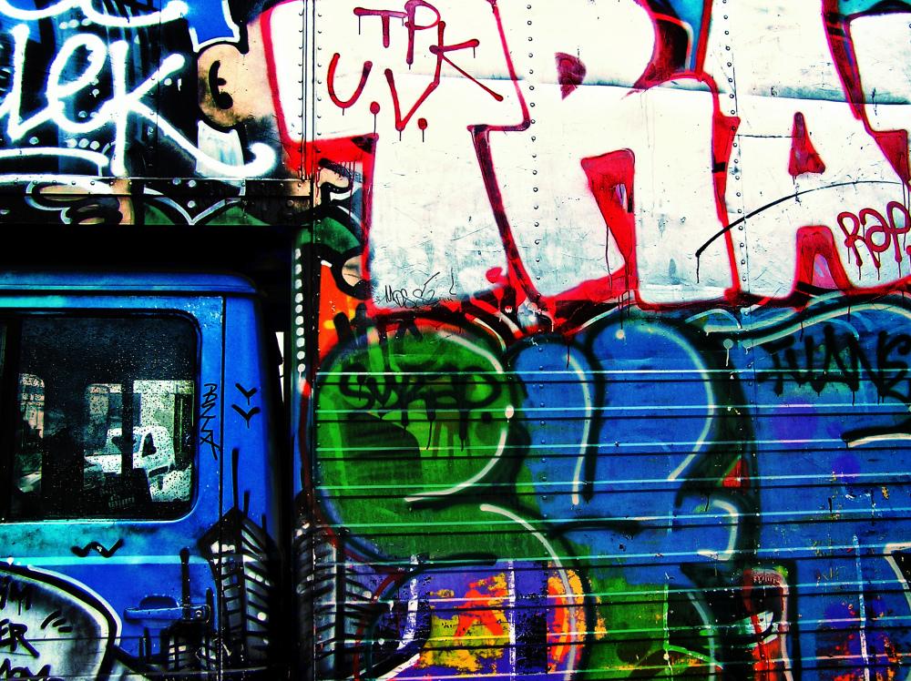 paris france truck graffiti bastille-market