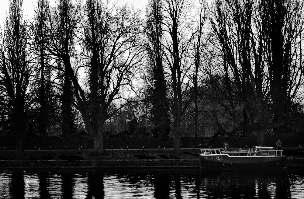 england kingston barge river thames tree