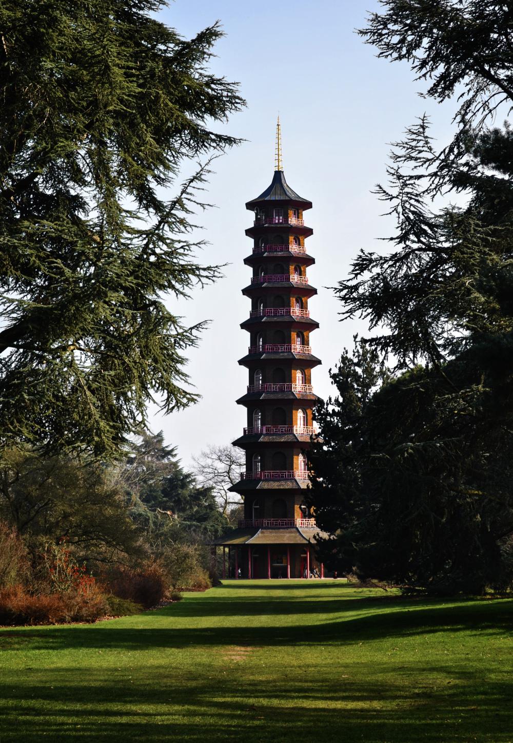 kew-gardens england garden pagoda