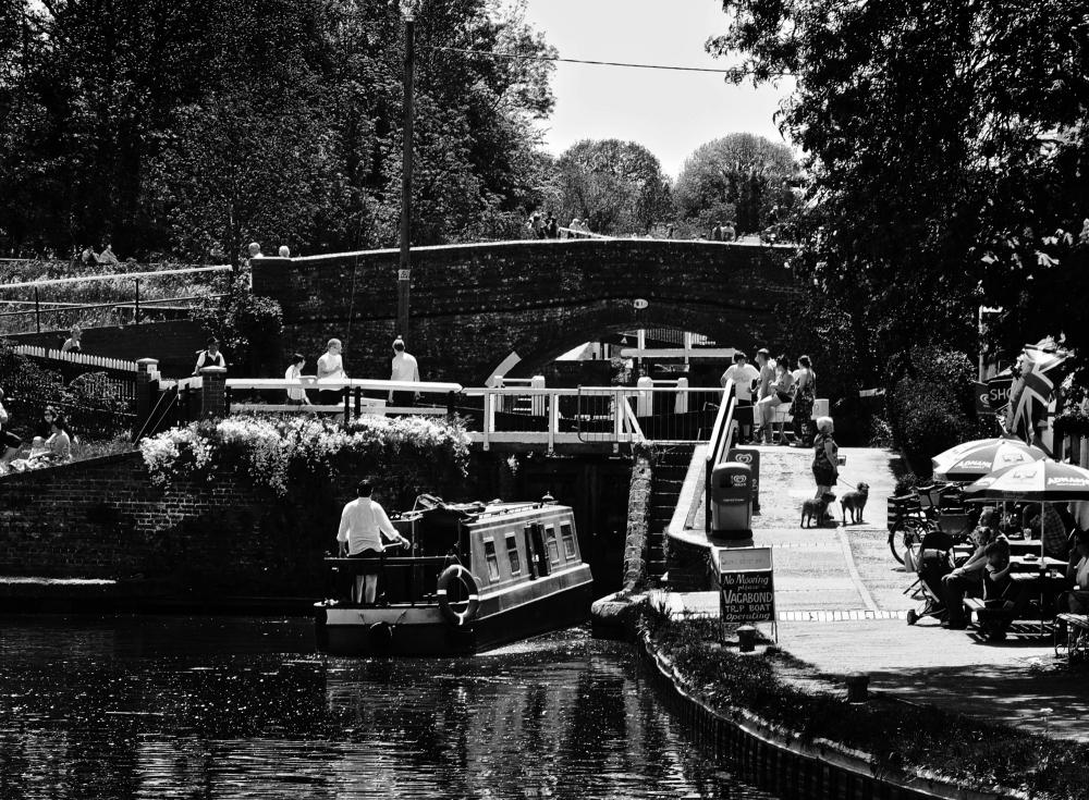 foxton-locks leicester england canal barge bridge
