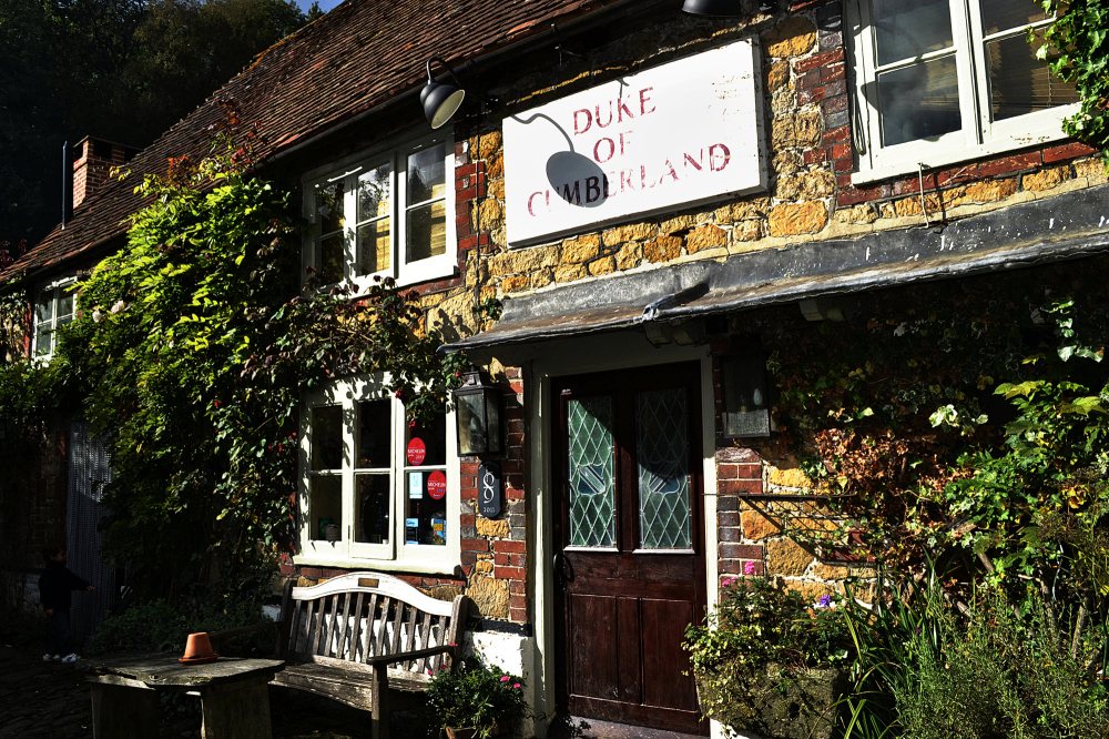 pub england west-sussex garden