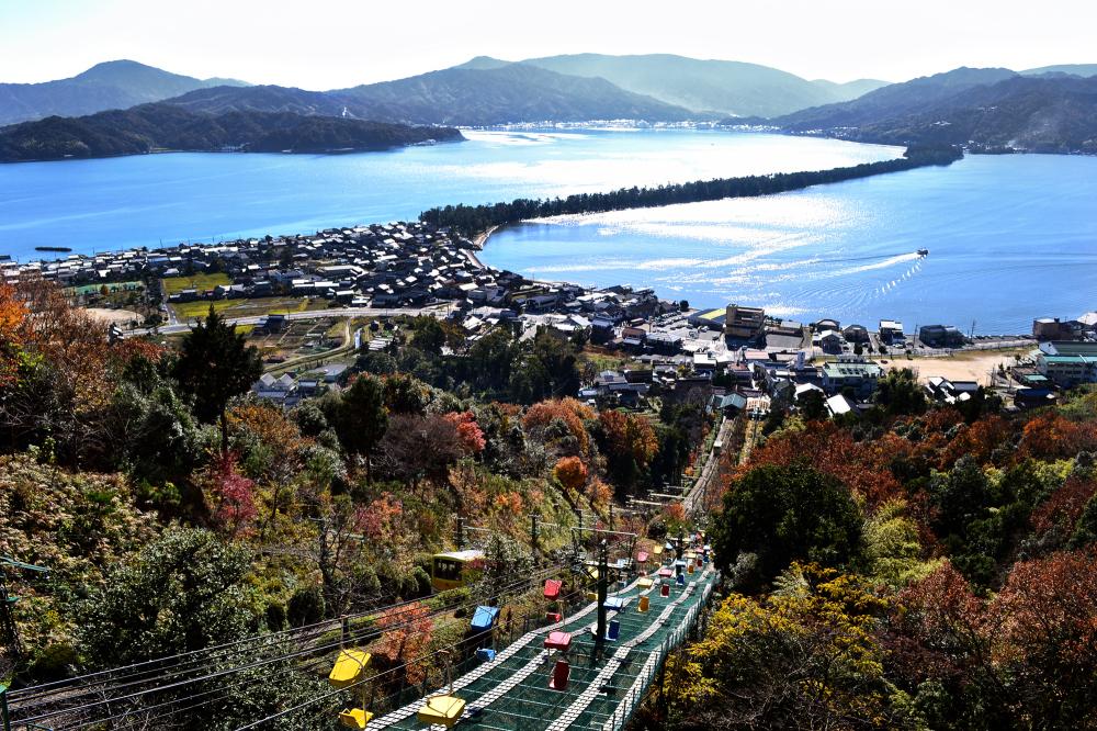 japan kyoto amanohashidate cable-car mountain sea