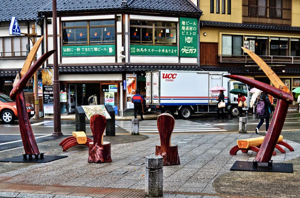 japan hyogo kinosaki onsen station