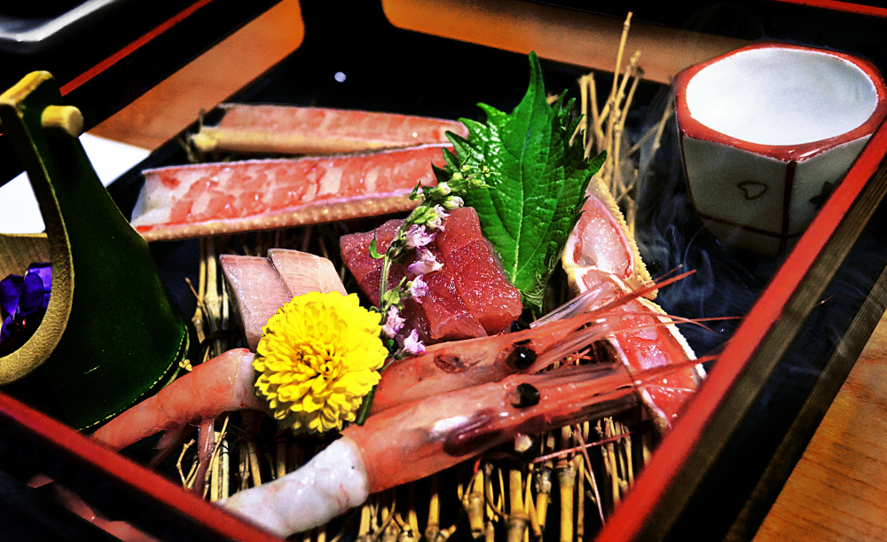 japan hyogo kinosaki onsen ryokan dinner sashimi