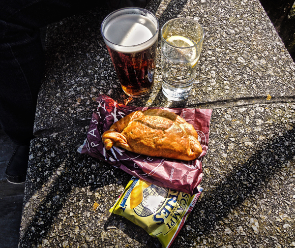 padstow cornwall england beer pasty