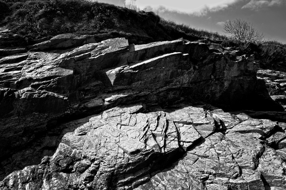 padstow cornwall england beach rock