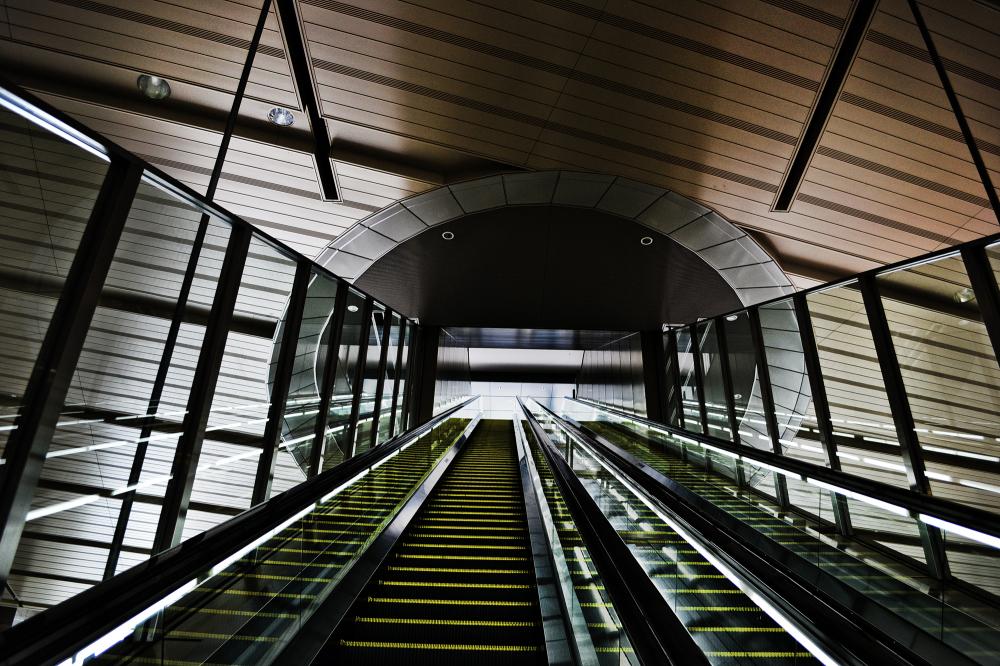osaka umeda japan station escalator