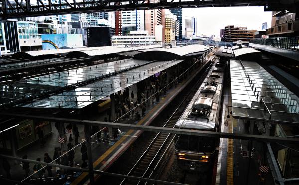 osaka umeda japan station jr train