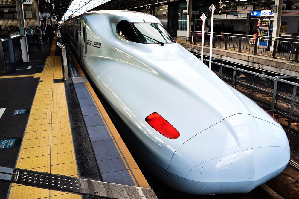 japan okayama shinkansen train station platform