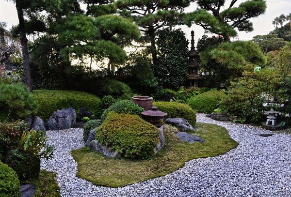 kagoshima ibusuki kyushu japan ryokan garden