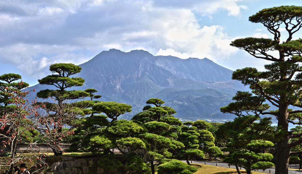 kagoshima kyushu japan volcano sakurajima garden