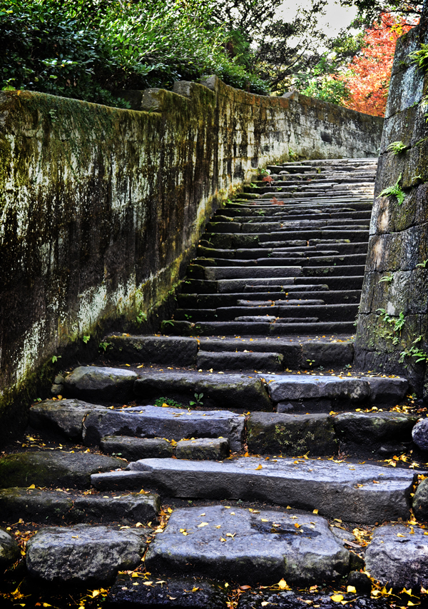 kagoshima kyushu japan sengan-en garden steps