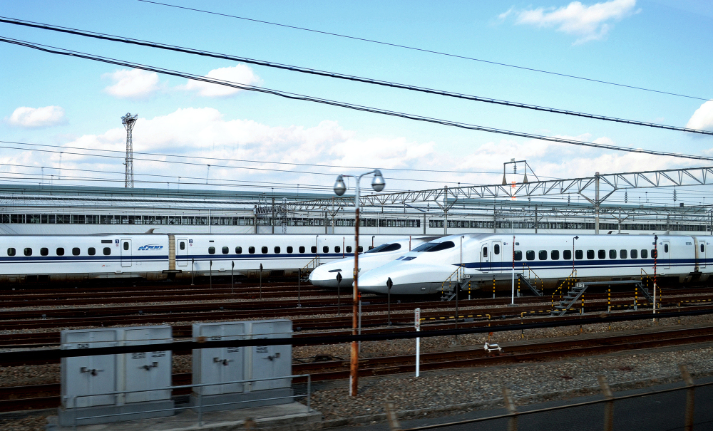 shinkansen train japan track