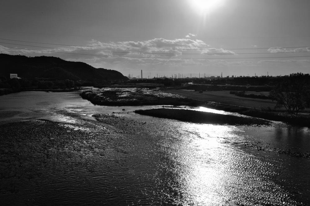 japan river sunset
