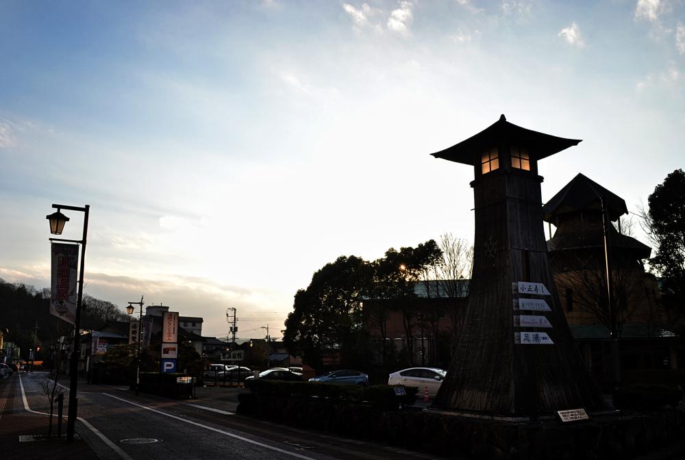 yunogo onsen light japan okayama street tower