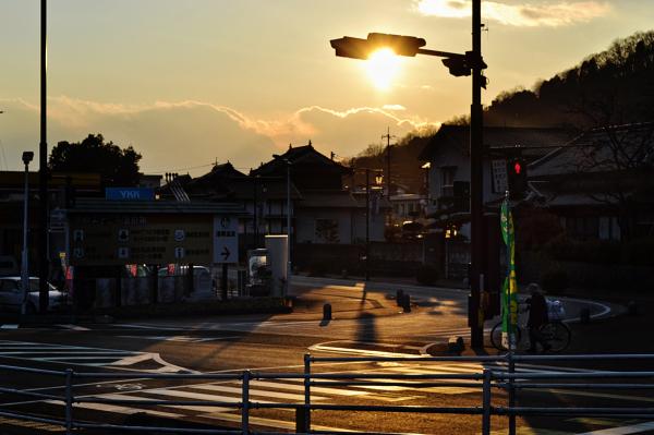 yunogo onsen japan street sunset okayama