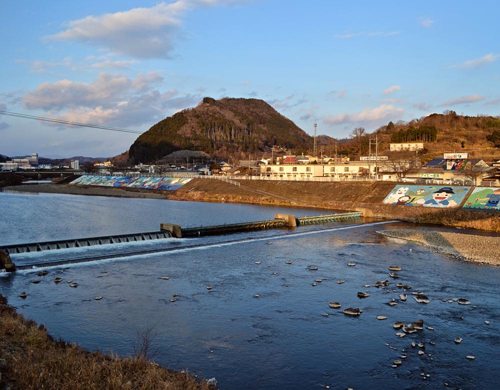 yunogo onsen japan river hill okayama