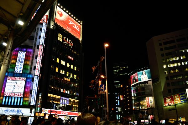 tokyo shinjuku skyscraper japan neon