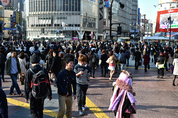 tokyo shibuya street crossing japan