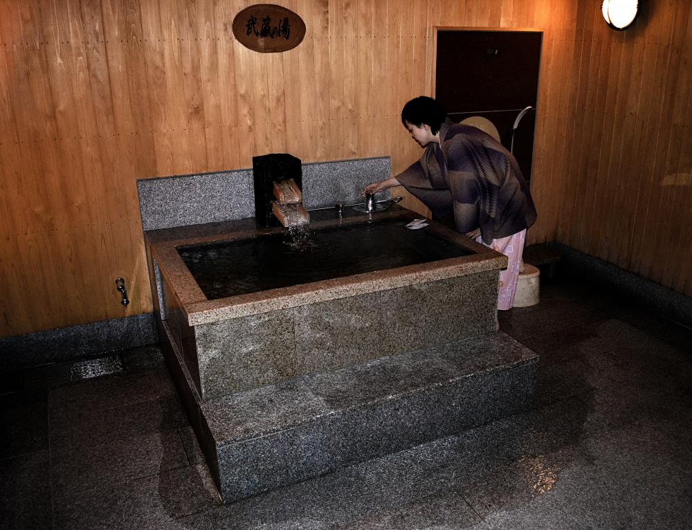 yunogo onsen japan okayama hotel bath mayumi