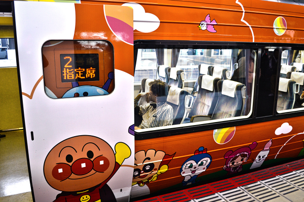 okayama station jr anpanman train japan