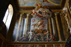 hampton-court palace england ceiling painting