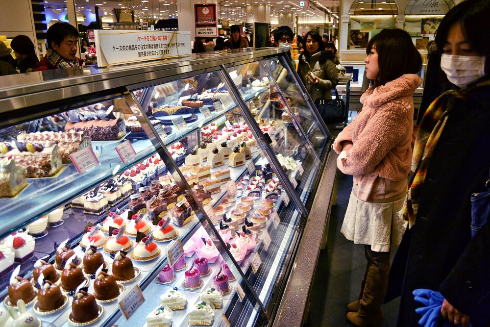 umeda osaka japan hankyu cake patisserie shop