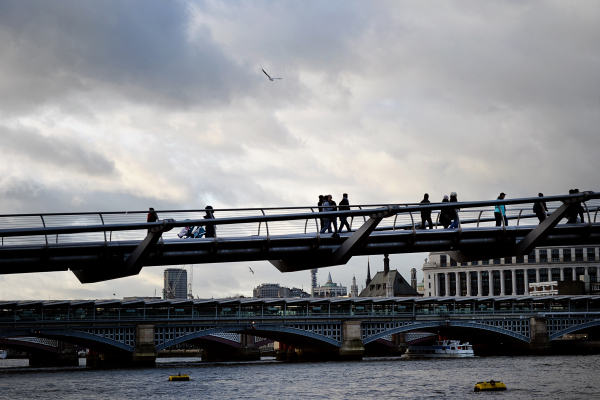 millennium-bridge bridge river thames london