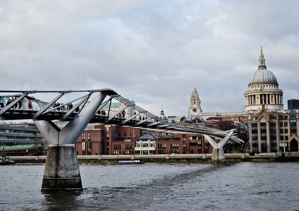 millennium-bridge bridge river thames london