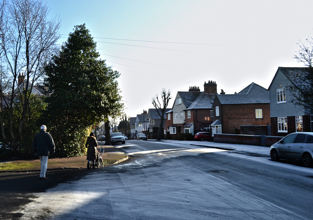leicester england street frost