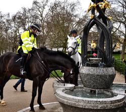 london england green-park park police horse