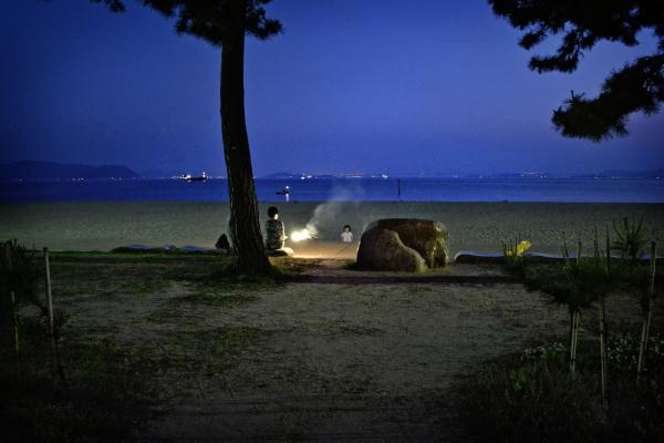 tamaño okayama japan beach mia mayumi fireworks