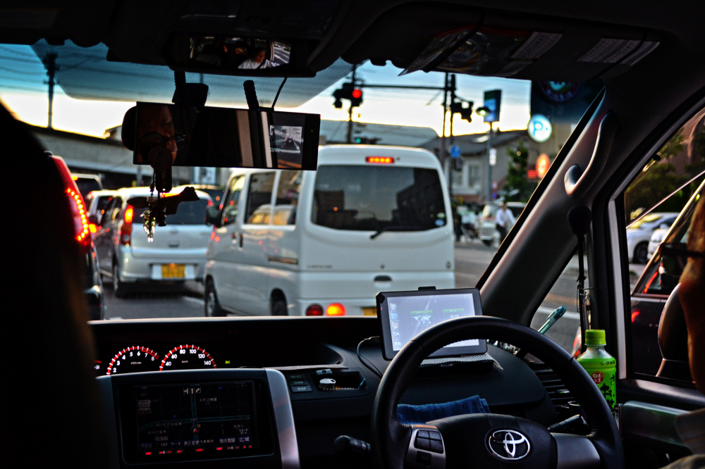 okayama japan car taxi