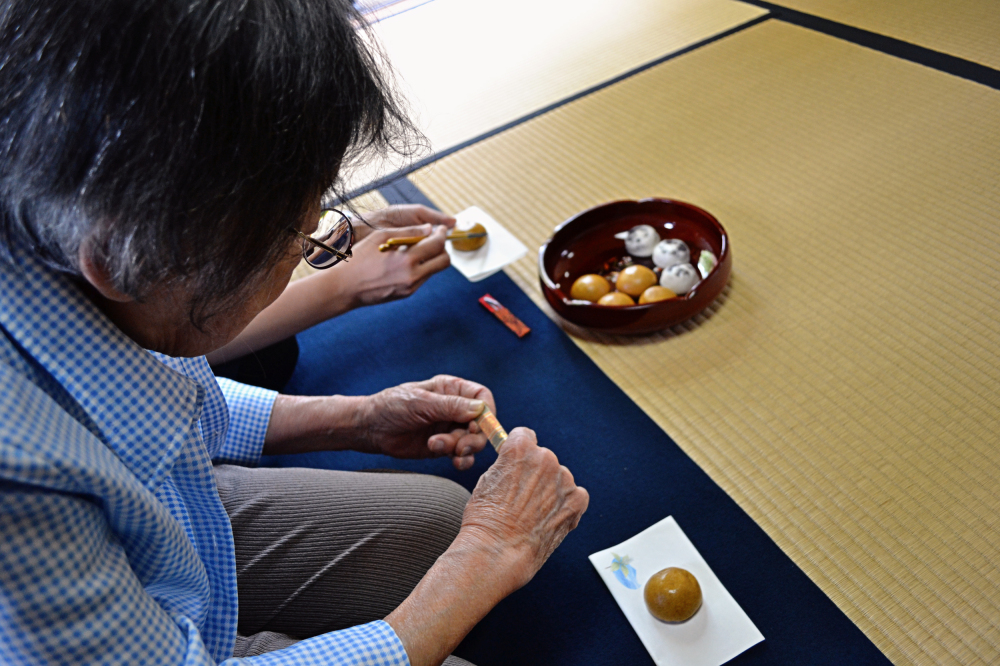 okayama japan tea-ceremony cake