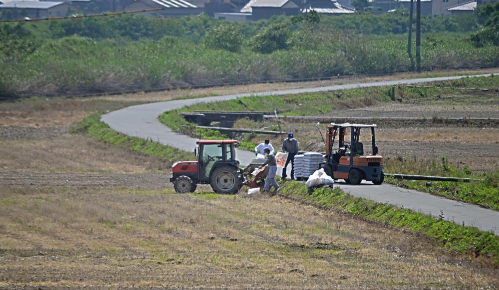 train okayama japan tractor field