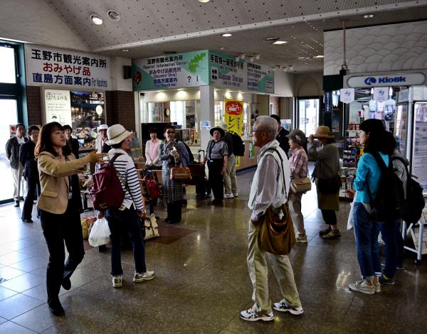 okayama uno station japan tourist